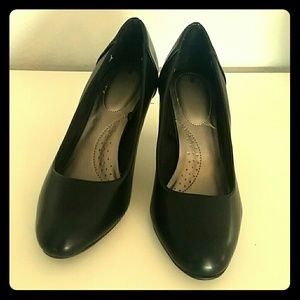 Time and Tru black heels, size 8